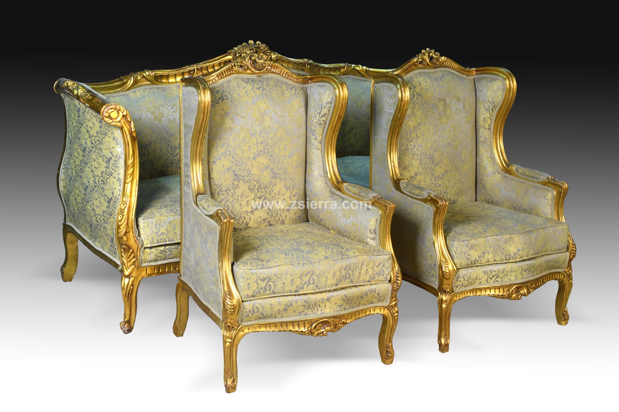 Z sierra antig edades y objetos de decoraci n for Sofa estilo frances
