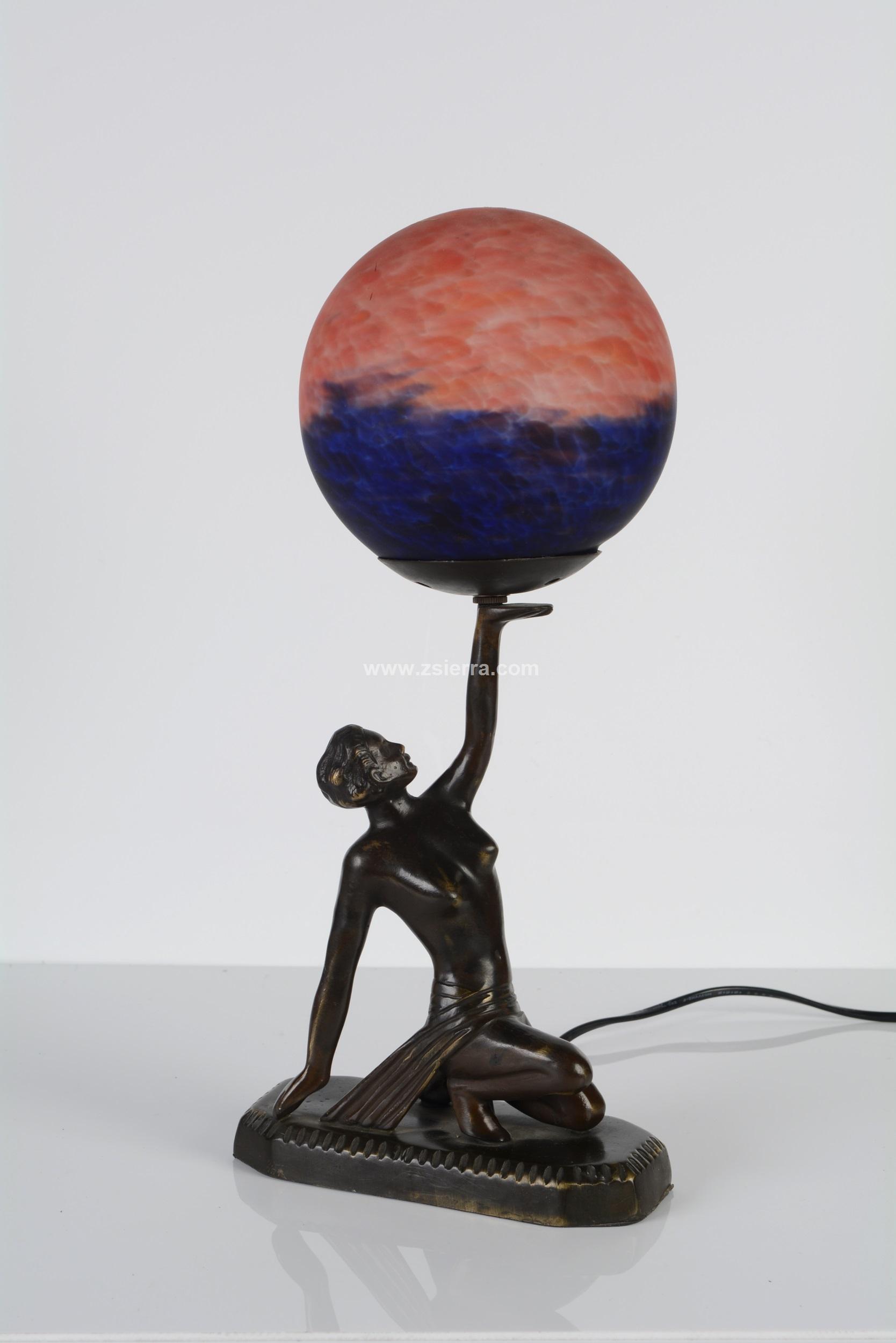 Z sierra antig edades y objetos de decoraci n lampara de sobremea bailarina art deco - Art deco decoracion ...
