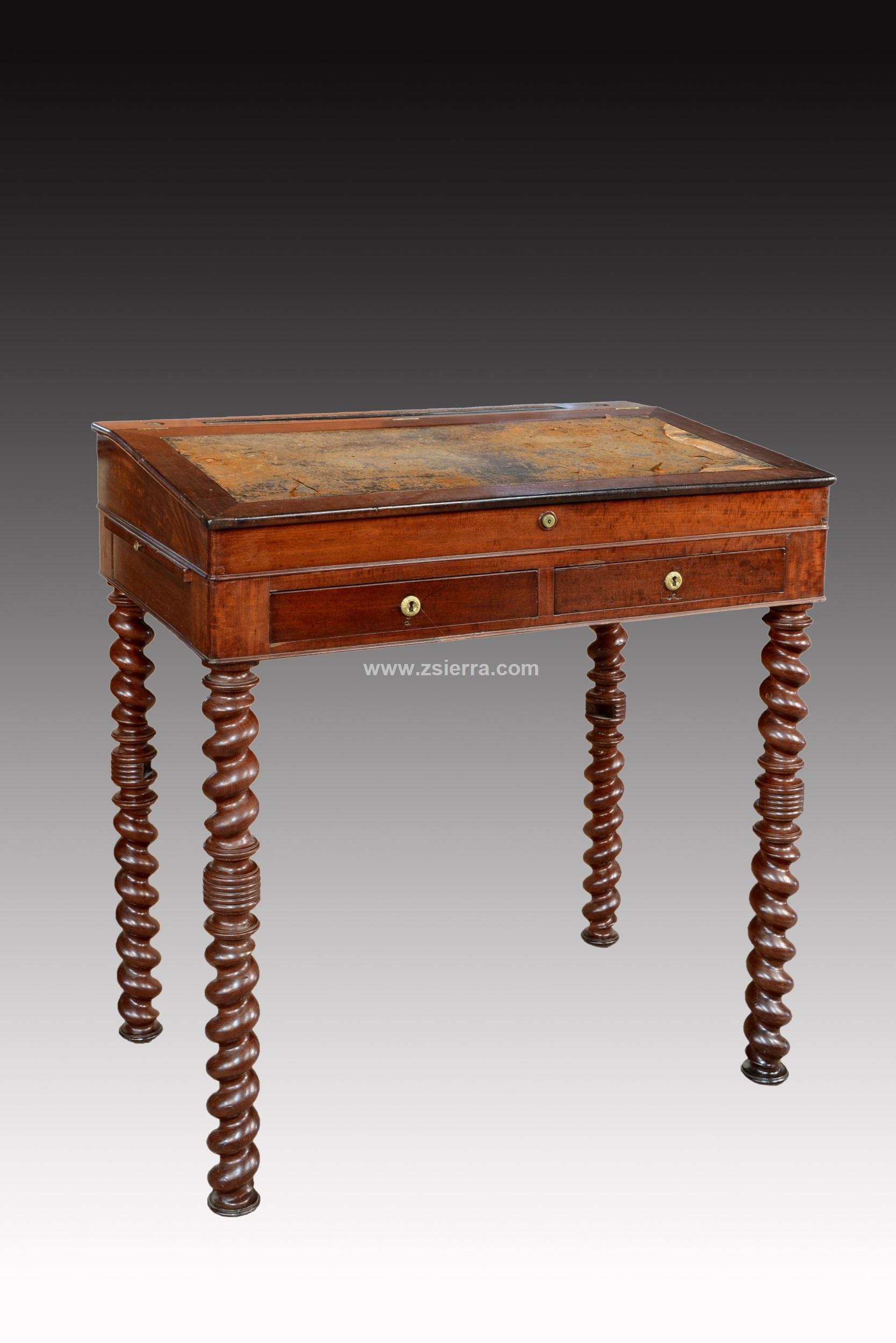 Z sierra antig edades y objetos de decoraci n mesa for Escritorio arquitecto