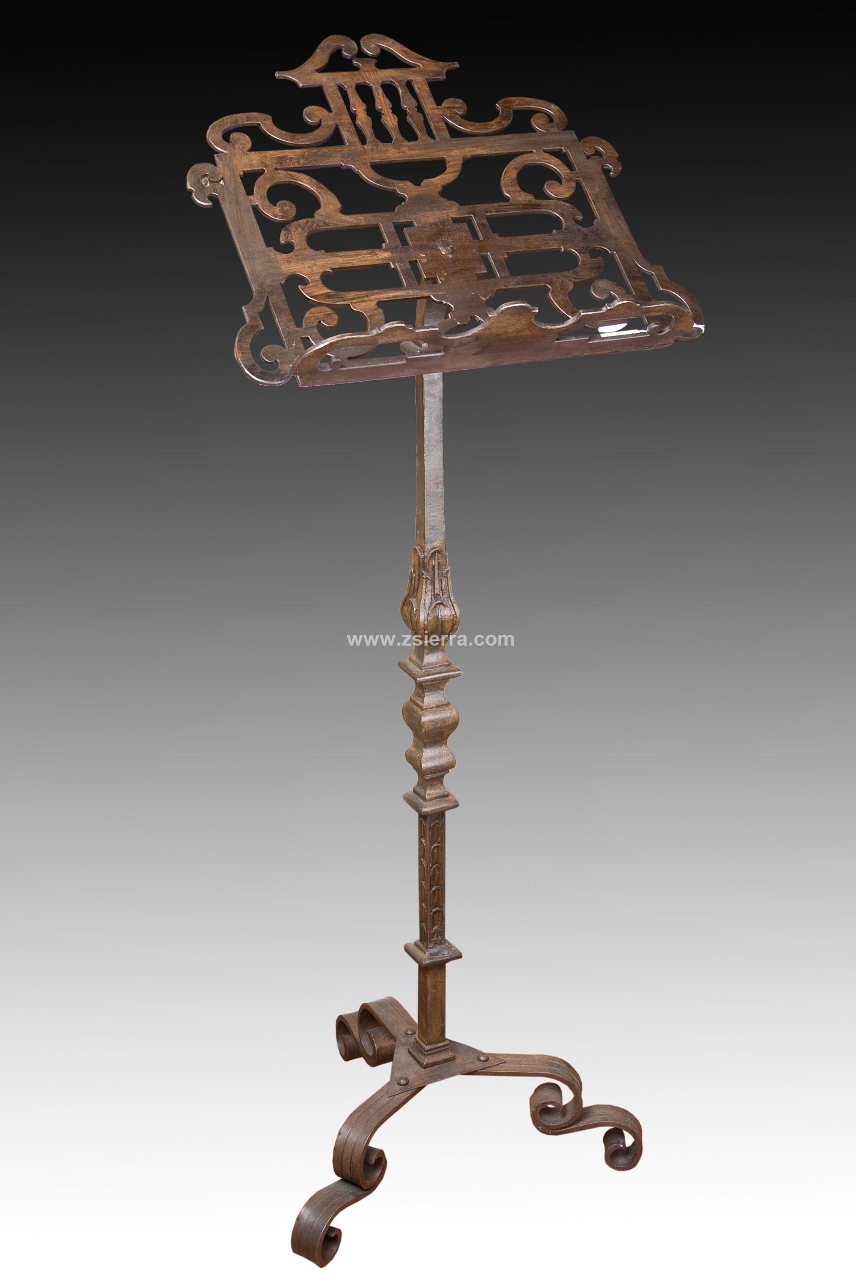 Z sierra antig edades y objetos de decoraci n atril hierro forjado s xx varios - Atril decoracion ...
