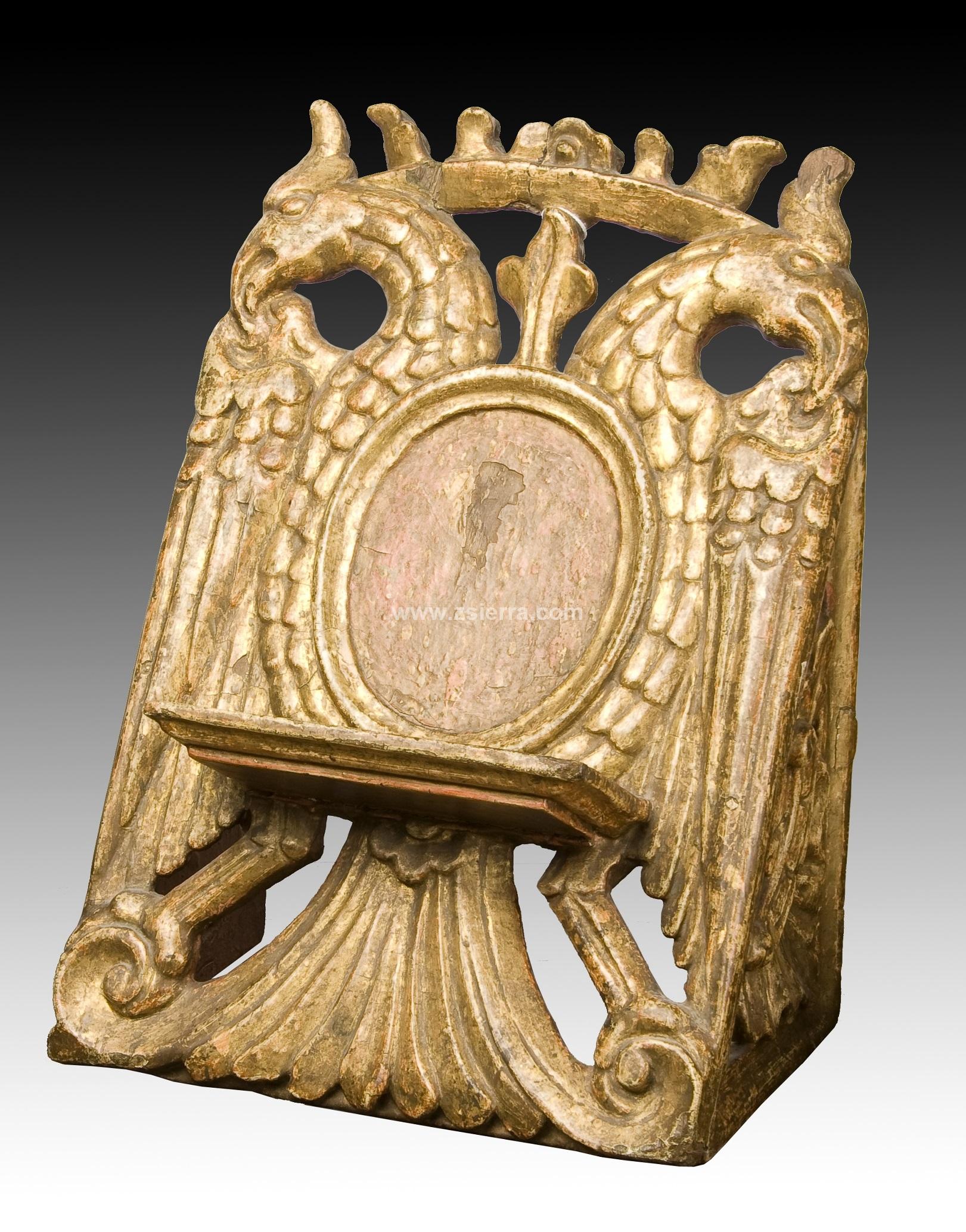 Z sierra antig edades y objetos de decoraci n atril en madera policromada mexico varios - Atril decoracion ...