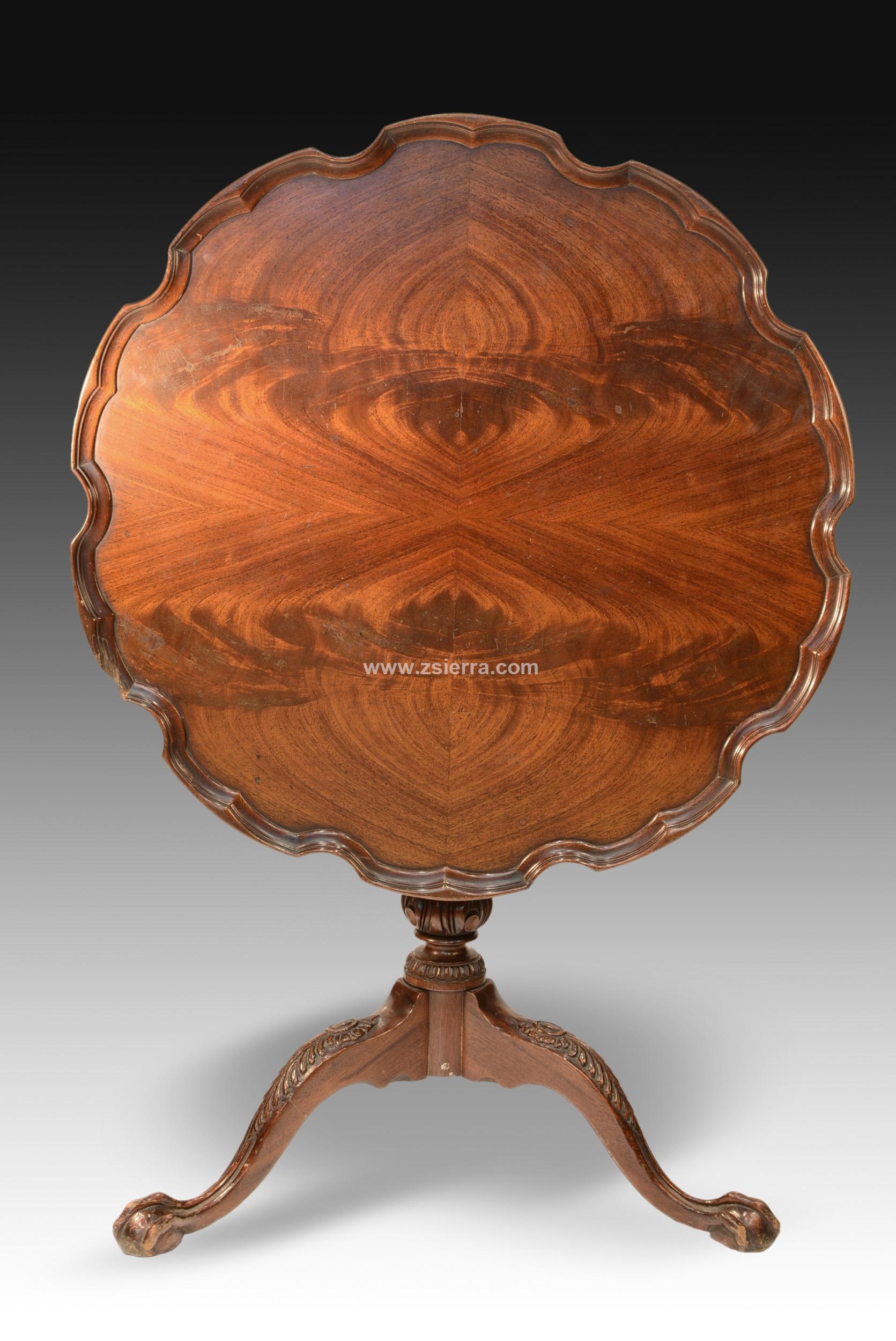 Z sierra antig edades y objetos de decoraci n mesa velador caoba estilo jorge ii eeuu h - Velador plegable ...