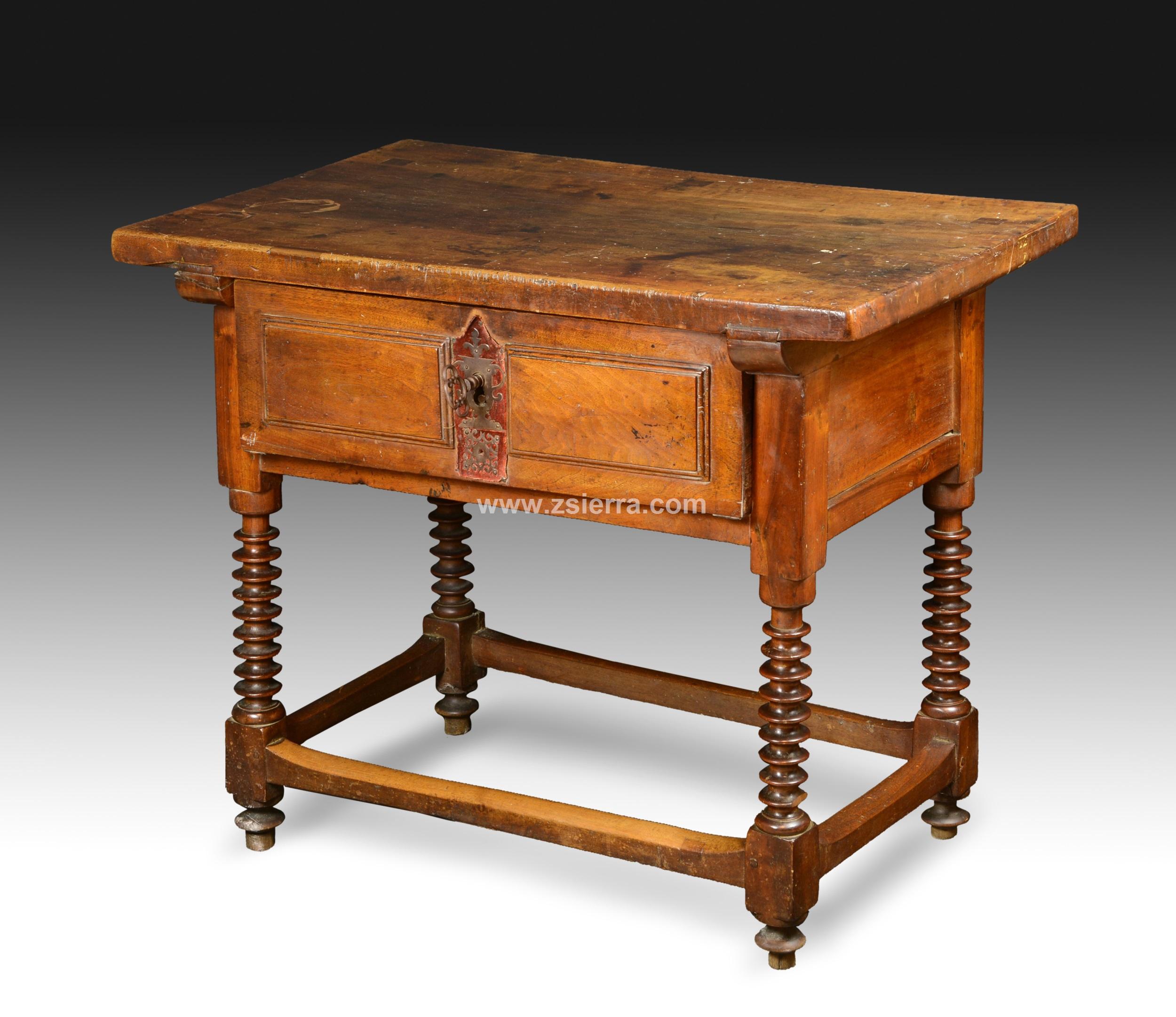 Z Sierra Antig Edades Y Objetos De Decoraci N Mesa De Nogal  # Muebles Renacentistas