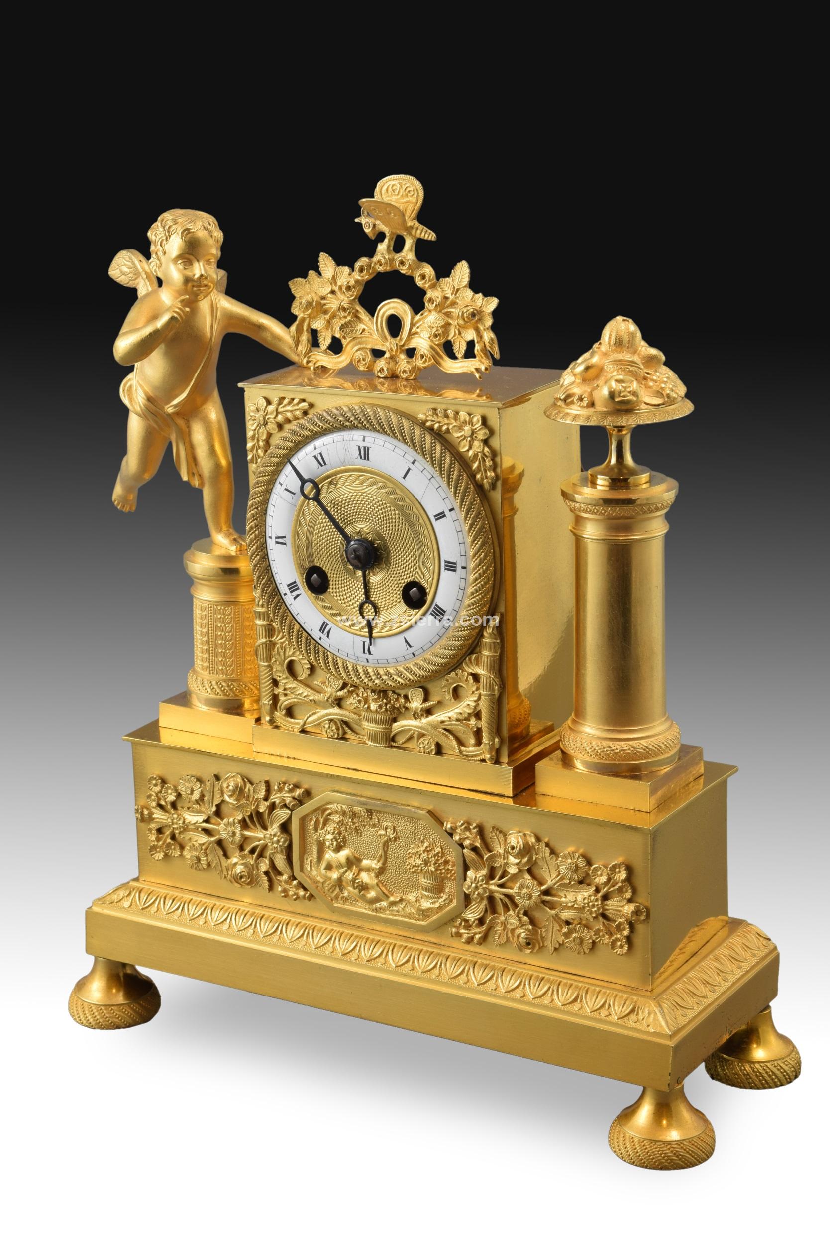 En Antigüedades · Decoración Reloj Frances Y De ZSierra Objetos 0vwONnm8